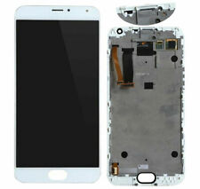 For White 5.5 in Meizu MX5 M575 AMOLED LCD Display Touch Screen Assembly Frame D