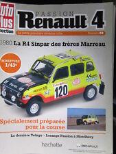 FASCICULE 3 PASSION RENAULT 4 R4 4L  SINPAR DES FRERES MARREAU 1980 PARIS DAKAR