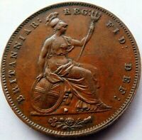 1853 Great Britain Large Penny Queen Victoria  A36-584