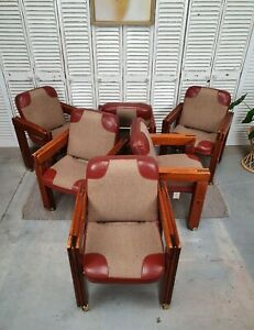 Vintage Post and Rail Dining Chairs x 6