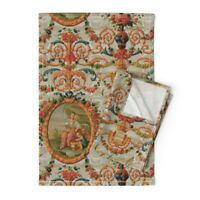 Rococo Baroque Marie Antoinette Linen Cotton Tea Towels by Roostery Set of 2