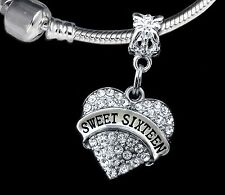 Sweet 16 charm huge sale fits European bracelet Sweet sixteen (charm only)