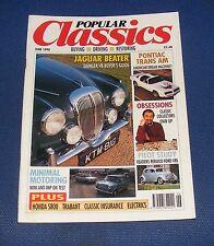 POPULAR CLASSICS JUNE 1990 - JAGUAR BEATER/PONTIAC TRANS AM/MINIMAL MOTORING