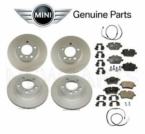 For Mini Cooper R60 R61 1.6L L4 Front & Rear Brake Discs w/ Pads & Sensors OES