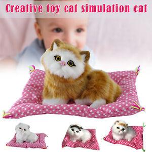 Realistic Kitten Cat Simulation Stuffed Living Animal Plush Soft Toys Kids Gifts