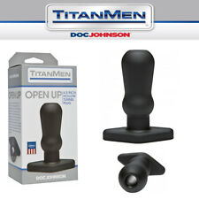 Plug anale con tunnel aperto Doc Johnson TitanMen Open Up 4.5 Inch Hollow Tunnel