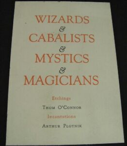 WIZARDS CABALISTS MYSTICS MAGICIANS/10 ETCHINGS SIGNED Ltd.Ed.THOM O'CONNOR 1966