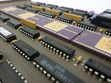 Vintage GOLD Cap Ceramic Microprocessor Circuit Rare Components Scrap Recovery