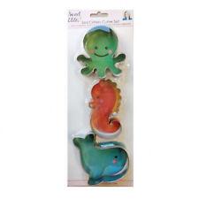 Sweet Elite Sea Critter Cookie Cutter Set (octopus, whale, sea horse)