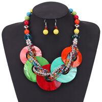 Fashion Jewelry Chain Acrylic Resin Collar Strand Choker Pendant Bib Necklace