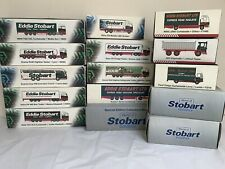 Eddie Stobart COLLECTION x15 Boxed Models Atlas Editions 1:76 Scale Large Lot