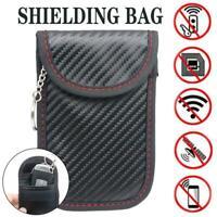 Anti Theft Car Faraday Bag Keyless Key Fob RFID Signal Blocker Shielding Pouch