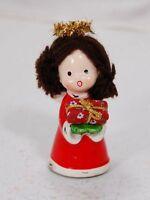 Japan Napco Brunette Christmas Angel Figurine #9750