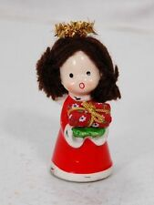 Japan Napco Brunette Christmas Angel Figurine #9750