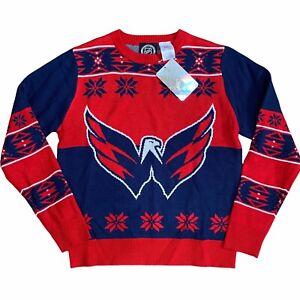 NHL Washington Capitals Christmas Sweater Youth L 14/16 NEW