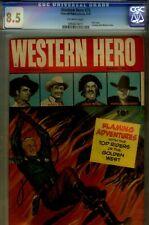 WESTERN HERO#76- CGC 8.5-HIGRADE VF+-1ST ISSUE- 1949 HOPALONG CVR
