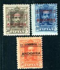 SPANISCH ANDORRA 1928 7C,8-9A ** POSTFRISCH signiert 200€(D8194