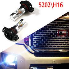 Xenon White 5202 H16 PSX24W 100W Daytime Running Fog Light LED Bulbs For GMC
