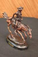Arizona Cowboy Inspired by Remington Solid Bronze Statue Sculpture Art Decor
