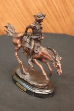 Handmade bronze sculpture Signa Horse Cowboy Arizona Remington Frederic Deal