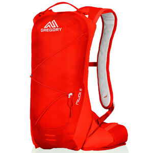 New Gregory Men's Miwok 6 Hydration Pack Daypack Red backpack hiking bag nano
