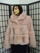 BRAND NEW NORWEGIAN PINK FOX FUR JACKET COAT WOMEN WOMAN