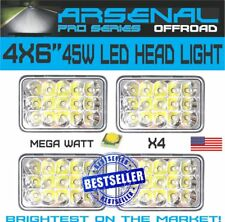 "4""x6"" PRO LED Headlights CREE Light Bulbs Replace H4656/4651 Sealed Headlamp 4PC"