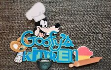 Disney page title Goofys Kitchen printed scrapbook page die cut