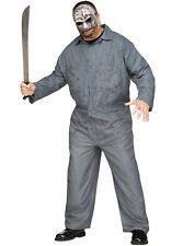 Masked Madman Hockey Mask Killer Adult Halloween Costume-Plus Size