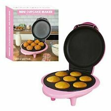 DELTA PINK KITCHEN MINI CUPCAKE CAKE MAKER THERMOSTATICALLY CONTROLLED