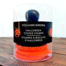 WILLIAMS SONOMA HALLOWEEN COOKIE STAMPS skull spider web pumpkin stamper baking