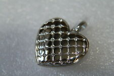 Quilted Heart w/Swar Crystals (Lk1042) Origami Owl Large Locket (new) Silver