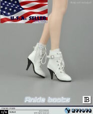 """1/6 Women White Ankle Boots For 12"""" PHICEN Verycool Hot Toys Female Figure ❶USA❶"""