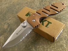CRKT Columbia River Ryan Model 7 Folding Blade Serrated Edge Desert Tan Knife