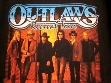 OUTLAWS med T shirt southern rock Revival Tour tee 2000s Henry Paul & Monte Yoho