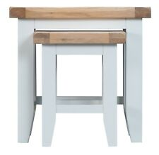 CANTERBURY WHITE PAINTED OAK NEST OF 2 TABLES / END UNIT DRINKS STAND