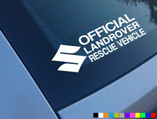 OFFICIAL LANDROVER RESCUE 4X4 STICKER FUNNY OFFROAD CAR JIMNY VITARA WINDOW