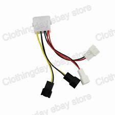 2PCS 4pin 12V to 2X 12V 2x 5V 3pin Y Splitter PC Fan Power Converter Wire