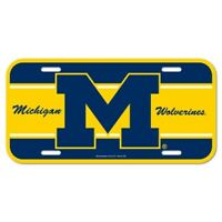 Michigan Wolverines License Plate Lightweight Plastic Official NCAA Licensed