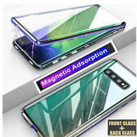 Cover For Samsung S10 S8 S9 Note 8/9 Double Sided Glass 360° Metal MAGNETIC Case