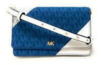 Michael Kors Mott Leather Phone Crossbody Wallet Clutch