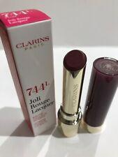 NEW Clarins Joli Rouge Lip Lacquer, 744 Plum BNWB