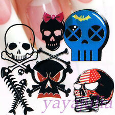 Cartoon Skull Style Nail Art Decal Water Slide Transfer Stickers 11 in1 W23