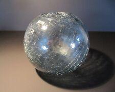 WMF: Kugelvase in Craqueleglas - Kristall - Wagenfeld Ära 60er - turmalinfarben