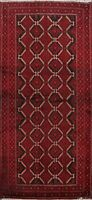 3'x6' Tribal Balouch Hand-knotted Area Rug Geometric Oriental Wool Foyer Carpet