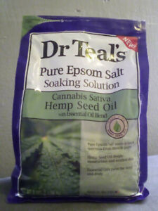 Epsom Salt, Brand:Dr Teal's, Color: Green, Size: 3 LBS / 1.36 Kg, Condition: New
