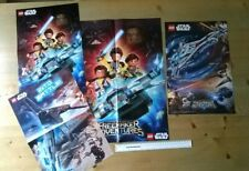 LEGO STAR WARS Freemakers Adventures & Rogue One Magazine Posters x4