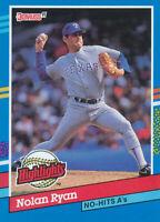 Nolan Ryan 1991 Donruss #BC-3 Highlights Texas Rangers Baseball Card