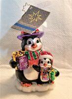 "Christopher Radko Glass Ornament ""UNFORGETABLE FRIENDS"" - #1015720 -5""T Penguins"
