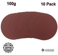 """8"""" inch Sanding Disc, 100 grit, 10 Pack, Peel & Stick, AL Oxide for Disc Sanders"""